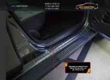 Накладки порогов от царапин РА Nissan Terrano 2014+/арт.701-20
