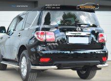 Nissan Patrol 2014- Защита заднего бампера уголки d76(секции) / арт.113-2