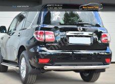 Nissan Patrol 2014- Защита заднего бампера d76 (дуга) / арт.113-1