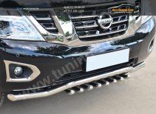 Nissan Patrol 2014- Защита переднего бампера d63 (волна)+d42 (зубы) /арт.113-13