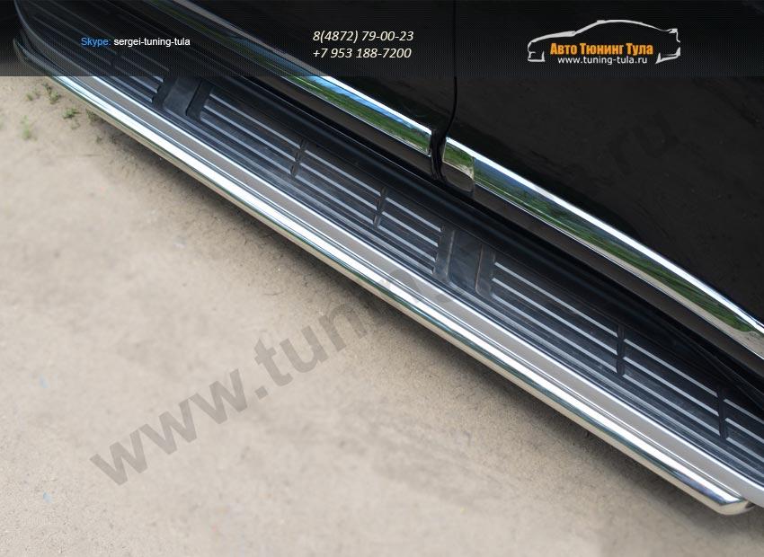 Защита порогов d42  Toyota Land Cruiser Prado 150 2014+ / арт.153-8