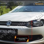 Накладки на фары реснички РА VW Polo sedan/Поло седан 2010+
