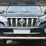 Защита переднего бампера d76 (секции) Toyota Land Cruiser Prado 150 2014+