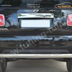 Nissan Patrol 2014- Защита заднего бампера d75х42 (дуга)
