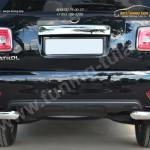 Nissan Patrol 2014-Защита заднего бампера уголки d76(секции) d42 (секции)
