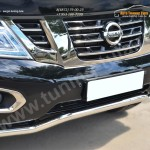 Nissan Patrol 2014- Защита переднего бампера d63 (волна)