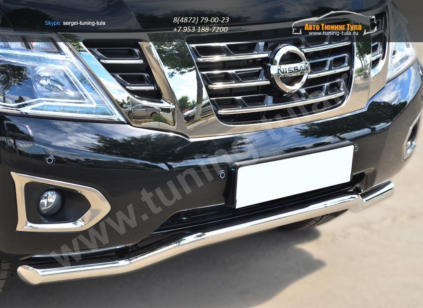 Nissan Patrol 2014- Защита переднего бампера d63 (волна)/арт.113-11