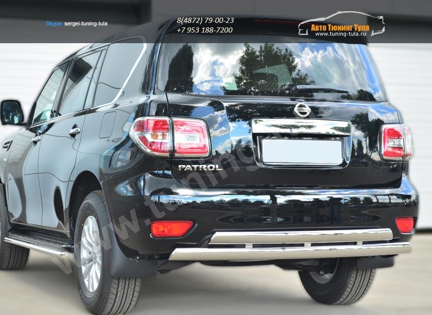 Nissan Patrol 2014- Защита заднего бампера d75х42 (дуга) d75х42 (дуга)/арт.113-6