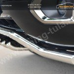 Nissan Patrol 2014- Защита переднего бампера d63 (волна)+d42 (зубы)