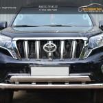Защита переднего бампера d76 (секции) 75х42 (дуга)+декор паз Toyota Land Cruiser Prado 150 2014+