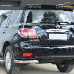 Nissan Patrol 2014- Защита заднего бампера уголки d76(секции)