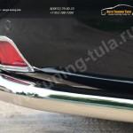 Защита заднего бампера уголки d76(секции) Toyota Land Cruiser Prado 150 2014+