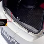 Порожек+Накладка на задний бампер Renault Logan 2014+