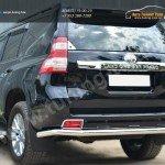 Защита заднего бампера d63 (секции) Toyota Land Cruiser Prado 150 2014+