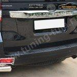 Защита заднего бампера уголки d76(секции) d42 (секции) Toyota Land Cruiser Prado 150 2014+