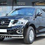 Nissan Patrol 2014- Защита порогов d42