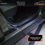 Накладки порогов от царапин РА Nissan Terrano 2014+