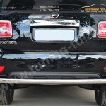 Nissan Patrol 2014-Защита заднего бампера d63 (секции)