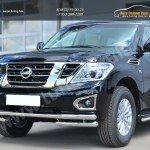 Nissan Patrol 2014- Защита переднего бампера d63 (секции) d63 (уголки)