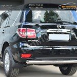 Nissan Patrol 2014- Защита заднего бампера d76 (дуга)