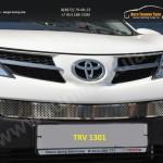 Накладка на решетку в бампер trv-1301 вар.1 TOYOTA RAV-42013+