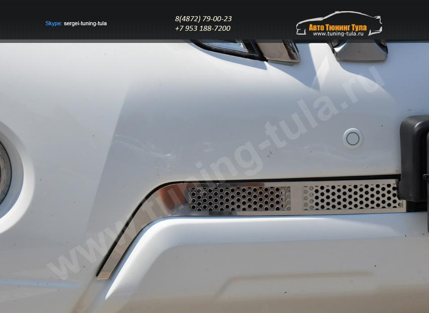 Накладка на решетку в бампер tlp-1401 2шт. LAND CRUISER PRADO 150 2014+ /арт.363-3