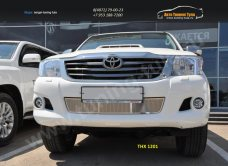 Накладка на решетку в бампер тнх-1201 TOYOTA HILUX 2012+ /арт.363