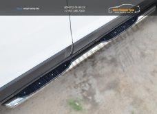 Chevrolet Captiva 2013- Пороги труба D76 с накладкой (вариант 1) /арт.185-6