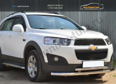 Chevrolet Captiva 2013-Защита переднего бампера D63 (секции) D42 (дуга) декор-паз/арт.185-10