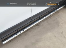 Chevrolet Captiva 2013-Пороги труба 75х42 овал с проступью /арт.185-4