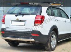 Chevrolet Captiva 2013-Защита заднего бампера D75х42(дуга) /арт.185-2