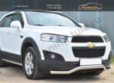 Chevrolet Captiva 2013-Защита переднего бампера D63 (волна)/арт.185-9