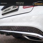 Решетка на задний бампер (лист) MERCEDES-BENZ  E 200 2013+