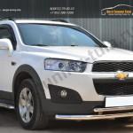 Chevrolet Captiva 2013-Защита переднего бампера D63 (секции) D42 (дуга) декор-паз