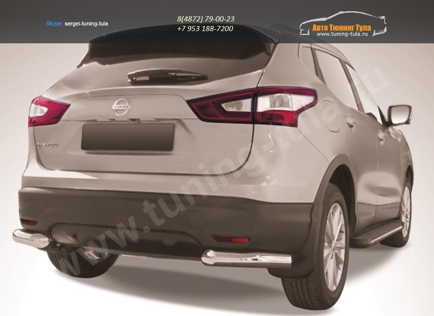 Защита задняя уголки d76 Nissan Qashqai 2014+/арт.746-10