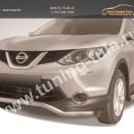 Защита переднего бампера d57 волна Nissan Qashqai 2014+