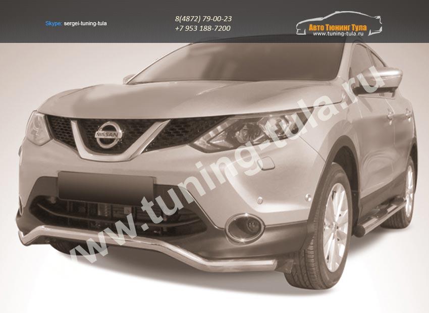 Защита переднего бампера d57 волна Nissan Qashqai 2014+/арт.746-3