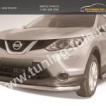 Защита переднего бампера d57 Nissan Qashqai 2014+