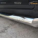 Chevrolet Captiva 2013- Пороги труба D76 с накладкой (вариант 1)