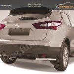 Защита задняя уголки d57 Nissan Qashqai 2014+