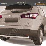 Защита заднего бампера d57 Nissan Qashqai 2014+