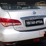 Накладка на задний бампер Nissan Almera 2014+