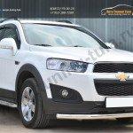 Chevrolet Captiva 2013- Защита переднего бампера D63 (секции)