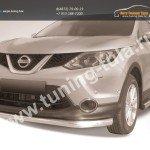 Защита переднего бампера d76 Nissan Qashqai 2014+