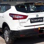 Накладка на задний бампер Nissan Qashqai 2014+