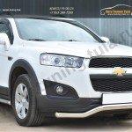 Chevrolet Captiva 2013-Защита переднего бампера D63 (волна)