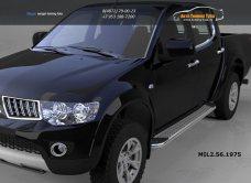 Пороги алюминиевые (Opal) Mitsubishi L200 (2006-2013 / 2014-)арт.684-6