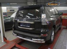 Защита заднего бампера Lexus GX460 (2014-) (одинарная с уголками) d 76/60/арт.300-16