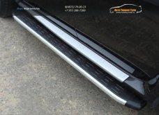Пороги алюминиевые с пластиковой накладкой Nissan Terrano 2014 /арт.144-31