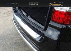 Накладка на задний бампер лист зеркало Nissan Terrano 2014 /арт.144-28